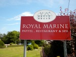Our first hotel - the Royal Marine