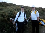 Me and Nick standing in front of a gorse bush on No. 17 at Royal Dornoch