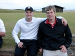 The cool set of brudders after Round 1 at Royal Dornoch