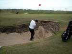 Me blasting one out of a bunker to about 12 feet
