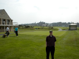 Little did I know in this pic taken prior to our round on the New Course that I would end up playing my worst round of the week and take home D-bag of the Day dishonors.